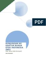 Kunjungan Ke Kantor Bursa Efek Indonesia
