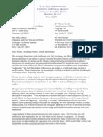 Barney Frank Letter to Banks