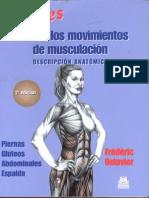 MUJERES. Guía de Los Movimientos de Musculación Descripción Anatómica