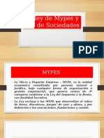 La Ley de Mypes y Ley de Sociedades