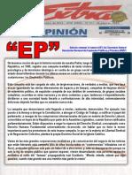 1-2015-PATRIA JUSTA-Polarización-Confrontación-Ataque Mediático Al Empleo Público-Diálogo-Papel de La Prensa