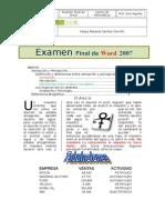 Examen Final de Word 2007