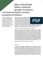 Tecnologias Digitais e Interatividade Na Televisão Brasileira
