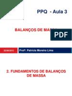 balanço de massa-multiplas Unidades