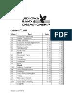 Mid Iowa Schedule 2015