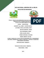EFECTO DE LAS DOSIS DE MATERIA ORGANICA Y CLORURO DE POTACIO EN AL PRODUCCIÓN DE SANDIA