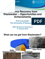 Resource Recovery From Wastewater - Opportunities and Achievements