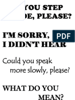 Classroom Language Posters 2