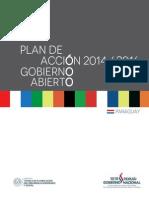 Plan de Acción 2014-2016 de Gobierno Abierto Paraguay