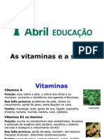 As Vitaminas e a Saude