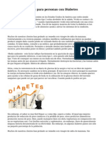Bebidas saludables para personas con Diabetes