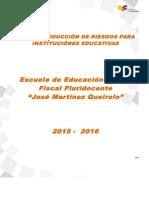 Formato Plan de Reduccion de Riesgos MinEduc Alf Jose Martinez Queirolo 2015 2016
