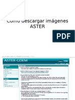 Como Descargar Imágenes ASTER