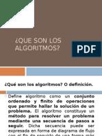 Que son los algoritmos