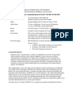 Syllabus MASC 101-001 Fall 2015