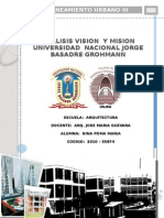 Vision y Mision UNJBG . ESAQ Analisis