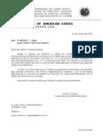 Confirmación OEA Denuncia Recibida