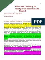 Carta Mundial Por El Derecho a La Ciudad