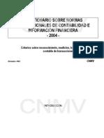 CNMV - Cuestionario adaptación NCE a NIC - Dic 2004