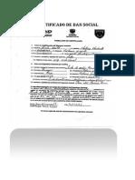 Certificado de Dan Social