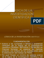 Aalógica de La Investigación Científica i Derecho