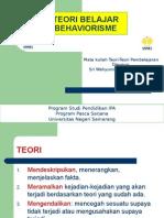 Tugas 1 Teori Belajar Behavioristik