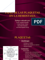 Papel de Las Plaquetas en La Hemostasia