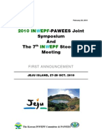 1st Announcement of INWEPF-PAWEES Meetings