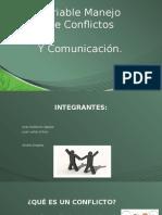 Variables Conflicto y Comunicacion en La Organizacion