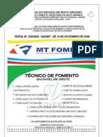 Mt Fomento Caderno Tecnico Fomento Bacharel Direito