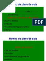 Roteiro de Plano de Aula