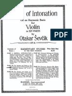 Sevcik - School of Intonation Op. 11 Book 1 Part 2 the Semitone and Tritone