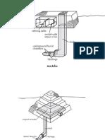 diagrams of a mastaba and step pyramid