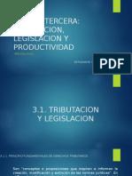 Tributacion Legislacion y Productividad