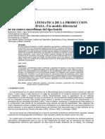 MODELACION MATEMATICA DE LA PRODUCCION E GLUCOSA OXIDASA. (Un modelo diferencial ión, roximación a la descripción de las transformaciones que ocurren en el proceso de a Oxidasa.