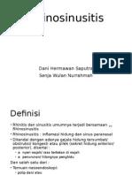 Rhinosinusitis Tanpa Polip Ppt