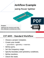 Power Splitter simulation with CST