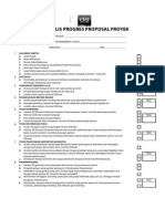 Form Ceklis Proposal Proyek