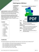 Wikipedia - Glucose-6-Phosphate Dehydrogenase Deficiency (CHECKED en HEMATOLOGIA) R
