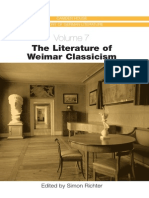 The Literature of Weimar Clasicism