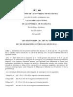 Ley No. 444 Reforma a La Ley 376 Del Regimen Presup. Municipal
