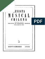 Revista Musical Chilena Sep 1945