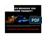 Drinking and Driving Poster 1