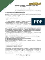 Capacitatea de Producţie Şi Programul de Producţie Al Firmei Sau Al Întreprinderii