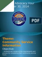 sept 30 - 9th community service