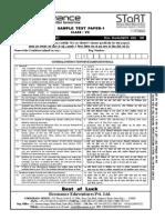 STaRT 2016 Sample Paper Clsss 7