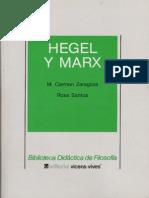Zaragoza y Santos - Hegel y Marx. Ed. Vicens-vives