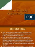 NILAI DALAM KEPERAWATAN