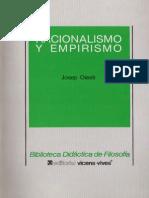 Olesti, J. - Racionalismo y Empirismo Ed, Vicen-Vives