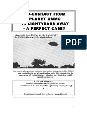 UFO Contact From Planet Ummo | Unidentified Flying Object | Universe
